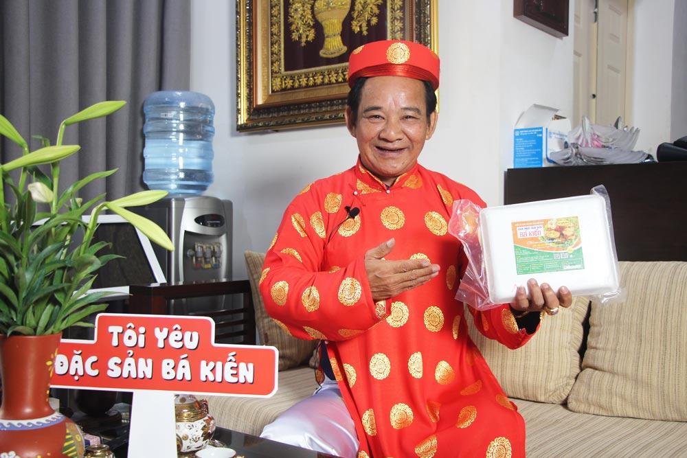 Nghệ sĩ Quang Tèo đánh giá cao chất lượng đặc sản Chả mực Hạ Long thương hiệu Bá Kiến