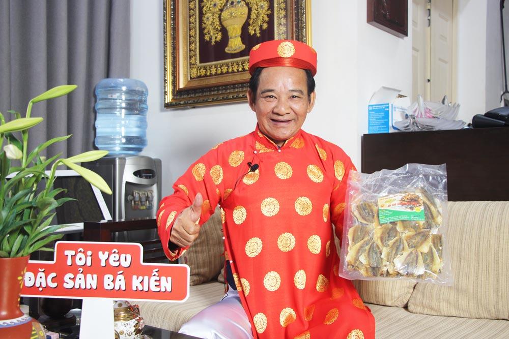 Nghệ sĩ Quang Tèo đánh giá cao chất lượng đặc sản Cá chỉ vàng Bá Kiến