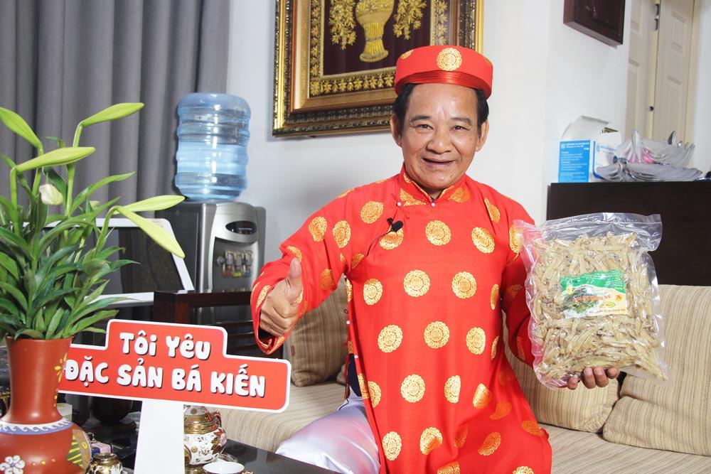 Nghệ sĩ Quang Tèo đánh giá cao chất lượng đặc sản Sá sùng Bá Kiến