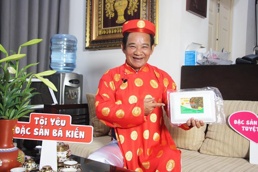 Nghệ sĩ Quang Tèo đánh giá cao chất lượng đặc sản Rươi Tứ Kỳ thương hiệu Bá Kiến
