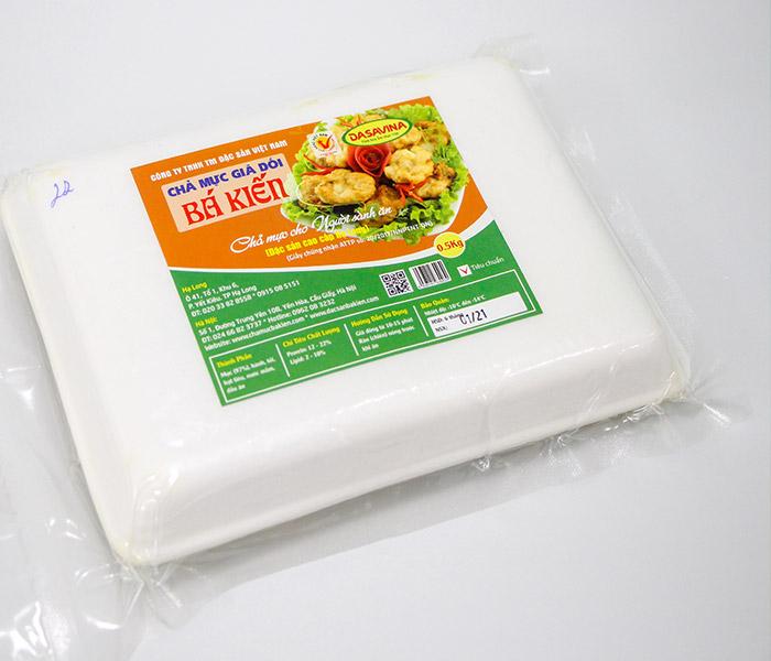 Chả mực Bá Kiến đảm bảo vệ sinh an toàn thực phẩm và nguồn gốc xuất xứ