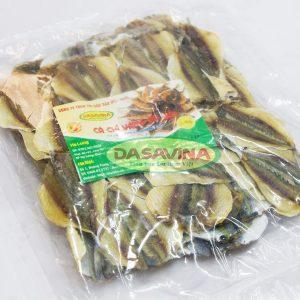 Cá chỉ vàng được đóng gói và hút chân không cẩn thận