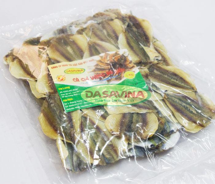 Cá chỉ vàng khô Bá Kiến được đóng gói và hút chân không cẩn thận