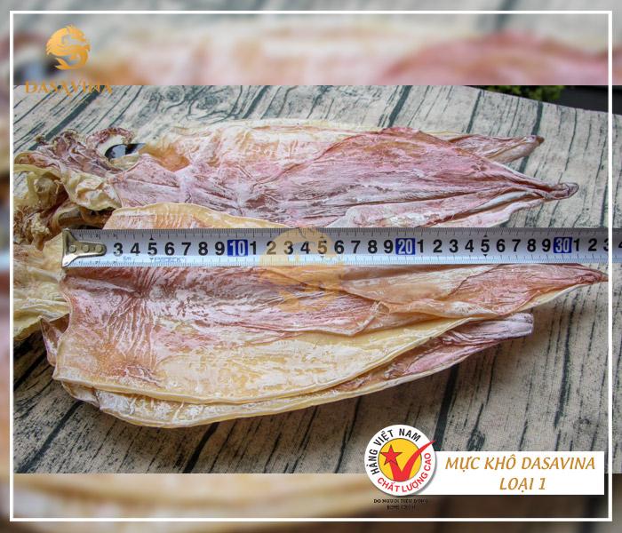 Mực khô DASAVINA loại 1 có kích thước từ 28-33 cm
