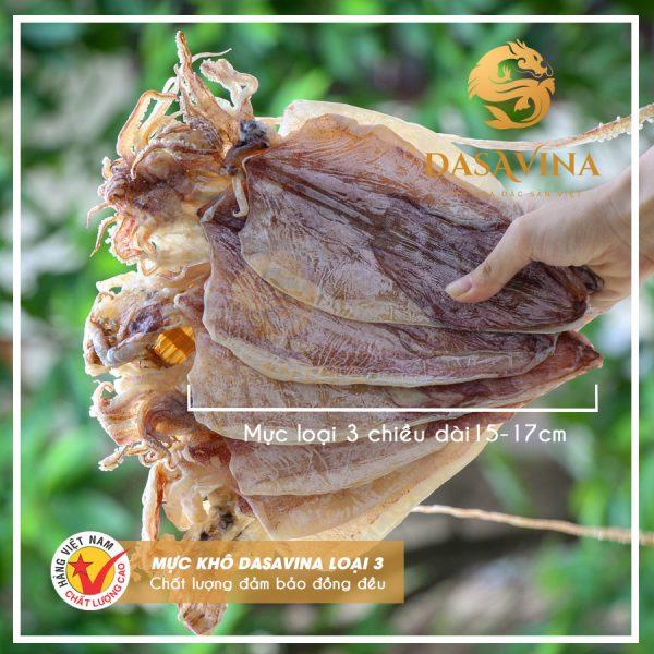 Hình ảnh sản phẩm mực khô loại 3 của DASAVINA