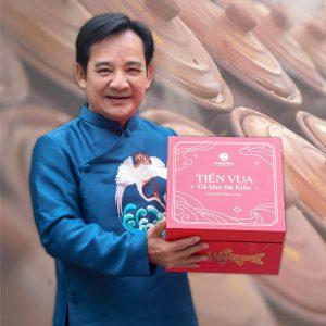 Nghệ sĩ Quang Tèo với món cá kho Tiến Vua