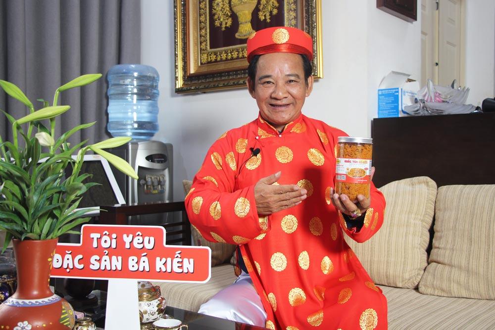 Nghệ sĩ Quang Tèo đánh giá cao chất lượng đặc sản Ruốc tôm Hạ Long thương hiệu Bá Kiến
