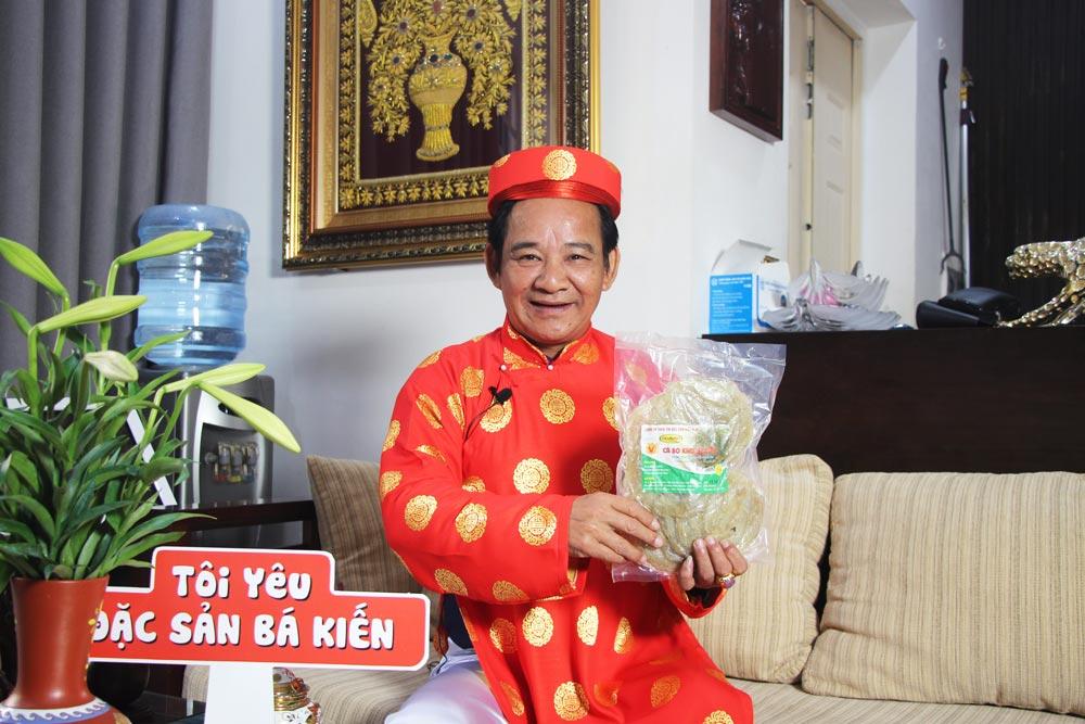 Nghệ sĩ Quang Tèo đánh giá cao chất lượng đặc sản Cá bò khô Bá Kiến