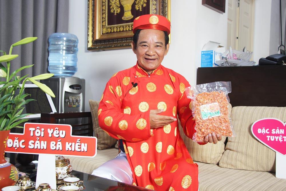 Nghệ sĩ Quang Tèo đánh giá cao chất lượng đặc sản Tôm khô Bá Kiến