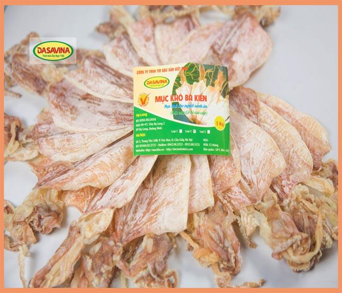 Mực khô chất lượng màu tươi tự nhiên, dễ xé nhỏ, khi nướng có hương thơm đặc trưng