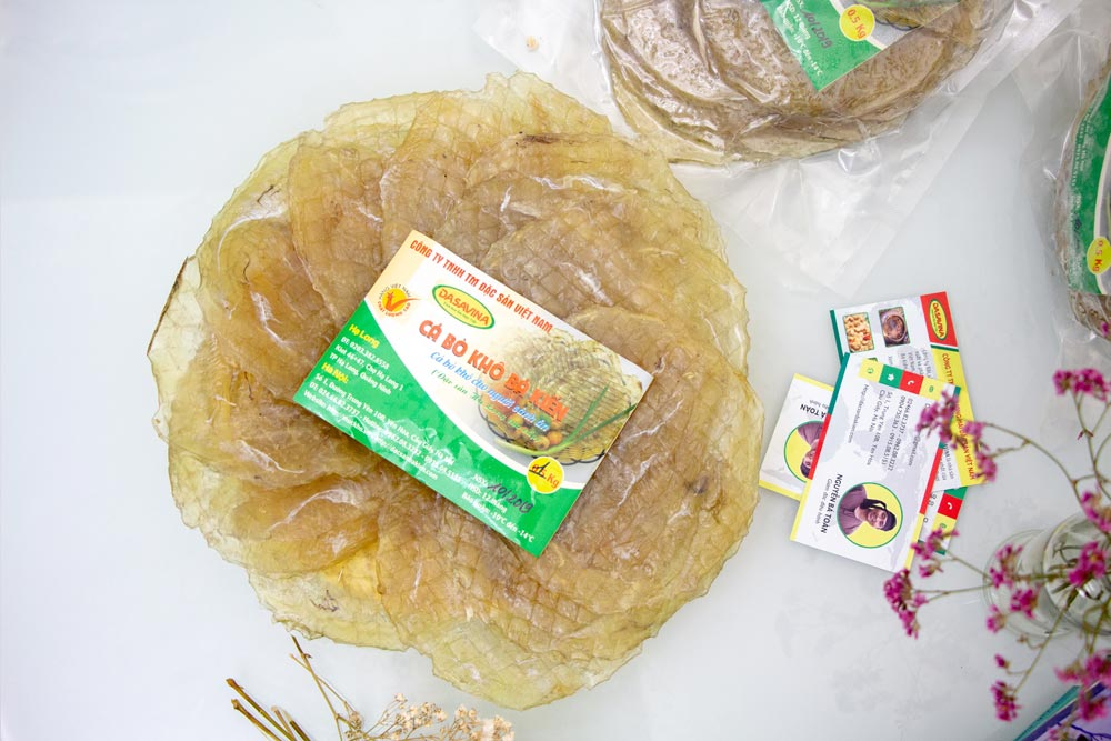 Đặc sản Cá Bò khô Bá Kiến