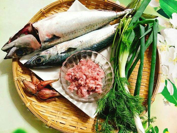 Các nguyên liệu chính cho món chả cá thu