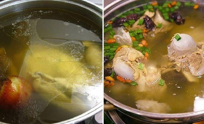 Cách nấu nước lèo từ xương gà cho bún chả cá