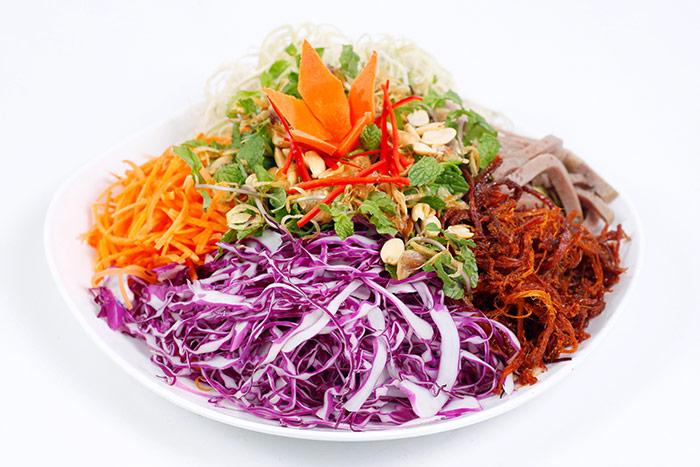 Nguyên liêu của món mực khô xào bắp cải